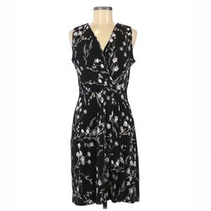 Kaileigh Seanna Faux Wrap Knit Floral Dress